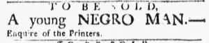 Feb 12 1770 - Boston Evening-Post Slavery 2