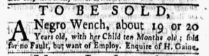 Feb 12 1770 - New-York Gazette and Weekly Mercury Slavery 10