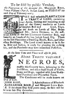 Feb 13 1770 - South-Carolina Gazette and Country Journal Slavery 1