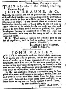 Feb 13 1770 - South-Carolina Gazette and Country Journal Slavery 12