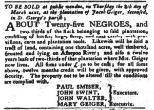 Feb 13 1770 - South-Carolina Gazette and Country Journal Slavery 14
