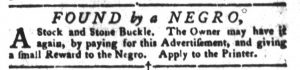 Feb 13 1770 - South-Carolina Gazette and Country Journal Slavery 16