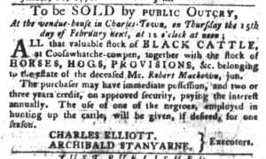 Feb 13 1770 - South-Carolina Gazette and Country Journal Slavery 6