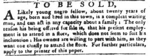 Feb 13 1770 - South-Carolina Gazette and Country Journal Slavery 8