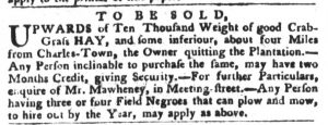 Feb 13 1770 - South-Carolina Gazette and Country Journal Slavery 9