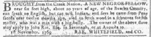 Feb 14 1770 - Georgia Gazette Slavery 2