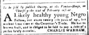 Feb 14 1770 - South-Carolina and American General Gazette Slavery 3