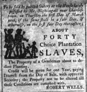 Feb 14 1770 - South-Carolina and American General Gazette Slavery 9