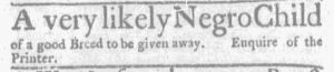 Feb 15 1770 - Massachusetts Gazette and Boston Weekly News-Letter Slavery 3