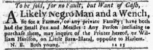 Feb 15 1770 - New-York Journal Supplement Slavery 1