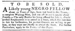 Feb 15 1770 - South-Carolina Gazette Slavery 10