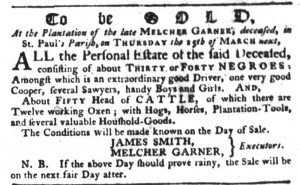 Feb 15 1770 - South-Carolina Gazette Slavery 2