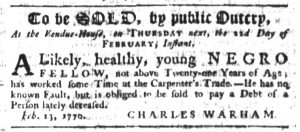 Feb 15 1770 - South-Carolina Gazette Slavery 6
