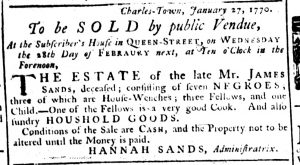 Feb 15 1770 - South-Carolina Gazette Supplement Slavery 10