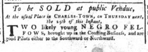 Feb 15 1770 - South-Carolina Gazette Supplement Slavery 3