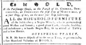 Feb 15 1770 - South-Carolina Gazette Supplement Slavery 4