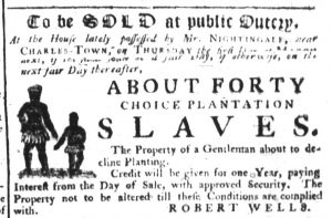 Feb 15 1770 - South-Carolina Gazette Supplement Slavery 5