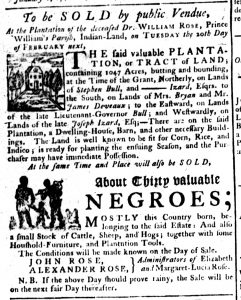Feb 15 1770 - South-Carolina Gazette Supplement Slavery 6