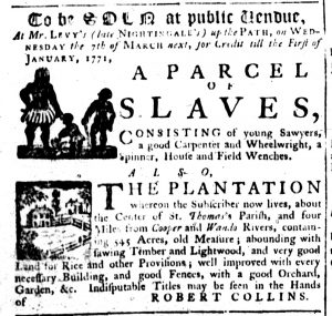 Feb 15 1770 - South-Carolina Gazette Supplement Slavery 7