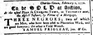 Feb 15 1770 - South-Carolina Gazette Supplement Slavery 8