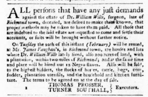 Feb 15 1770 - Virginia Gazette Purdie & Dixon Slavery 2