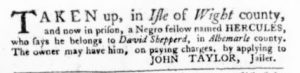 Feb 15 1770 - Virginia Gazette Purdie & Dixon Slavery 9