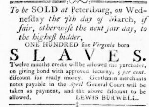 Feb 15 1770 - Virginia Gazette Rind Slavery 1