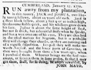 Feb 15 1770 - Virginia Gazette Rind Slavery 3