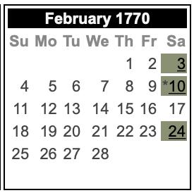 Feb 17 - Providence Gazette Calendar