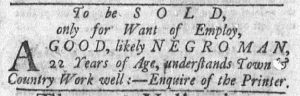 Feb 19 1770 - Newport Mercury Slavery 2