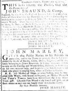 Feb 19 1770 - South-Carolina Gazette Extraordinary Slavery 1