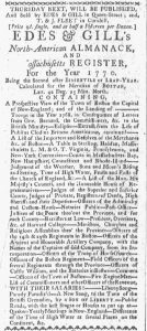 Feb 19 - 2:19:1770 Boston-Gazette