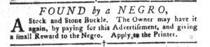 Feb 20 1770 - South-Carolina Gazette and Country Journal Slavery 10