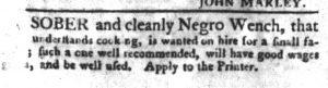Feb 20 1770 - South-Carolina Gazette and Country Journal Slavery 2