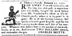 Feb 20 1770 - South-Carolina Gazette and Country Journal Supplement Slavery 4