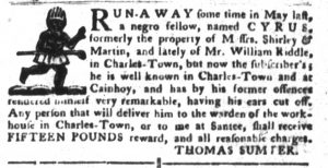 Feb 20 1770 - South-Carolina Gazette and Country Journal Supplement Slavery 6