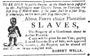 Feb 20 1770 - South-Carolina Gazette and Country Journal Supplement Slavery 7