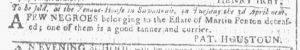 Feb 21 1770 - Georgia Gazette Slavery 1