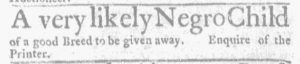 Feb 22 1770 - Massachusetts Gazette and Boston Weekly News-Letter Slavery 3