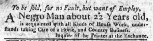 Feb 22 1770 - New-York Journal Slavery 1