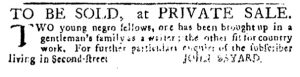 Feb 22 1770 - Pennsylvania Journal Slavery 3