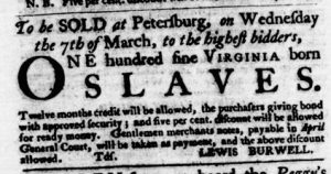 Feb 22 1770 - Virginia Gazette Purdie & Dixon Slavery 2