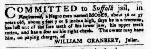 Feb 22 1770 - Virginia Gazette Purdie & Dixon Slavery 7