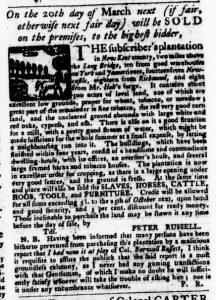 Feb 22 1770 - Virginia Gazette Purdie & Dixon Slavery 8