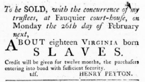 Feb 22 1770 - Virginia Gazette Rind Slavery 4
