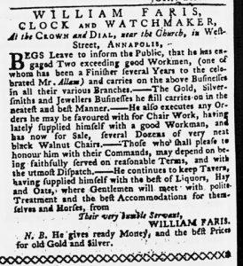 Feb 22 - 2:22:1770 Maryland Gazette