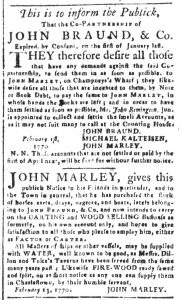 Feb 23 1770 - South-Carolina and American General Gazette Slavery 12