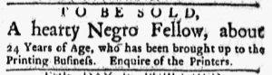Feb 26 1770 - Boston Evening-Post Slavery 1