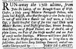 Feb 26 1770 - New-York Gazette and Weekly Mercury Slavery 8