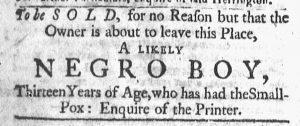 Feb 26 1770 - Newport Mercury Slavery 1